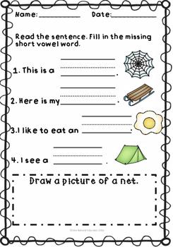 Short vowel e Review