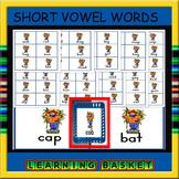 Short vowel flashcards-festive scarecrow clipart