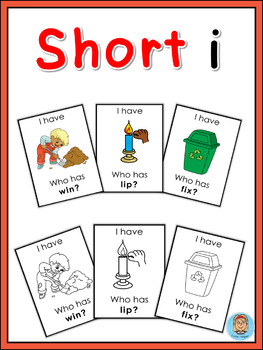 Short vowel i I have ... Who has ...? game