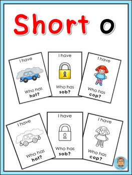 Short vowel o I have ... Who has ...? game