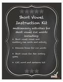 Short vowel phonics activities for CVC words, Orton Gillingham