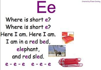 Short vowel songs