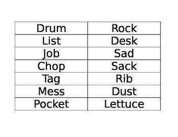 Short vowel sort first grade