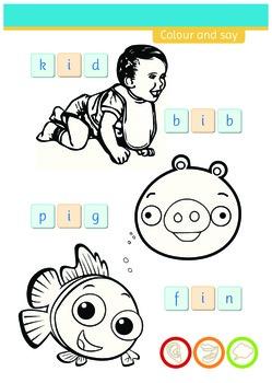 Short vowel sounds - phonics 'i'