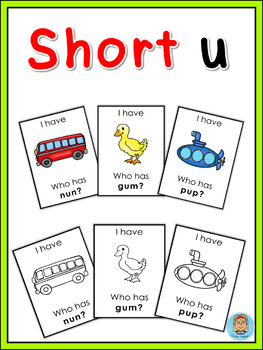 Short vowel u I have ... Who has ...? game