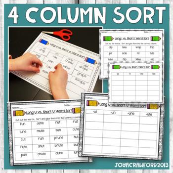 Long vowel U Spellings or long vowel teams covered in this pack ...