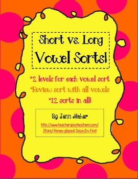 Short vs. Long Vowel Sorts, Differentiated