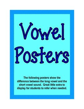Short/Long Vowel Posters