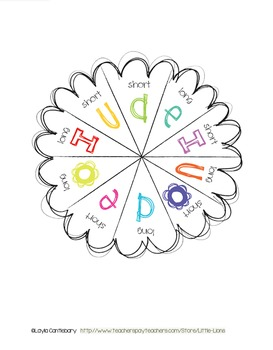 Short/Long Vowel Spinner Center