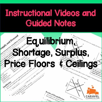 Shortage, Surplus, Price Floor/Ceiling Instructional Videos and Guided Notes
