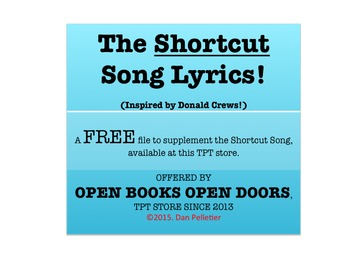 Shortcut Song Lyrics--Inspired by Donald Crews