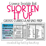 Shorten It Up {An abbreviation Decodable Book}