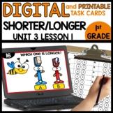Shorter or Longer | DIGITAL TASK CARDS | PRINTABLE CARDS