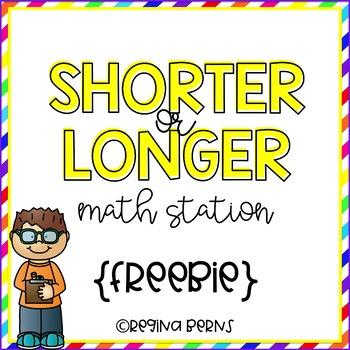 Shorter or Longer Math Station {FREEBIE}