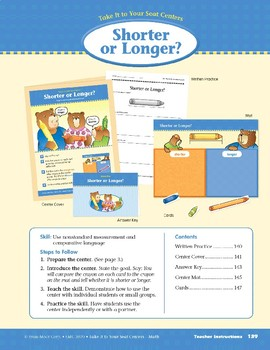 Shorter or Longer? (Take It to Your Seat Centers Common Core Math)