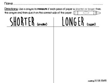 Shorter or Longer Than a Crayon