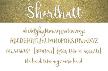 Shorthalt Font for Commercial Use