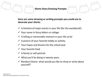 Shorts Story- An Art and Writing back-to-school activity