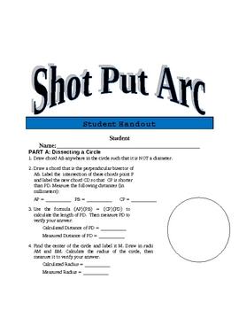 Shot Put Arc Performance Task