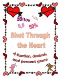 A fraction, decimal, and percent game: Valentine Shot through the Heart