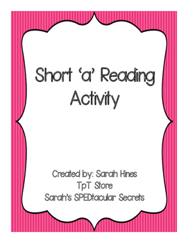 Short 'a'  Reading Activity- Word Family Stories