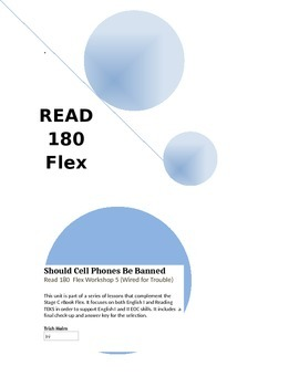 Should Cell Phones Be Banned- Read 180 (Workshop 5)