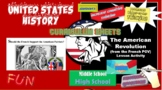 History - the American Revolution-Simulation / Lesson Plan Activity