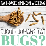 Distance Learning: Opinion Writing - Should Humans Eat Bugs?