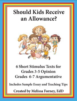 Stimulus Texts and Prompt Grades 3 - 7