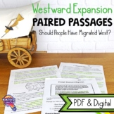 Should People Have Migrated West?: Paired Reading Passages & Opinion Writing
