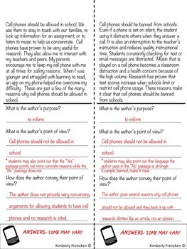 Cell Phones: Two Reading Flip Books to Analyze Non-Fiction