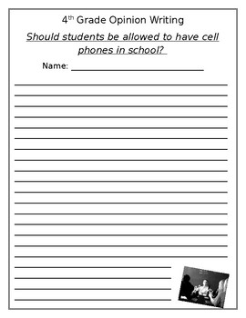 Should Students be Allowed to Bring Phones to School Writing Prompt