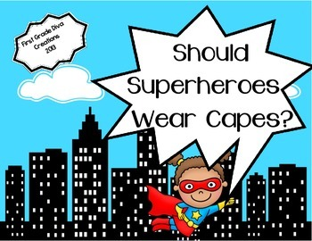 Should Superheroes Wear Capes?~ A Printable Math Graphing & Writing Activity