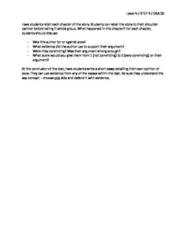 Should There Be Zoos? Guided Reading Lesson Plan - Level N