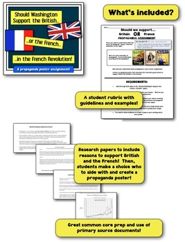 Should Washington Support the French or the British? A Propaganda Assignment!