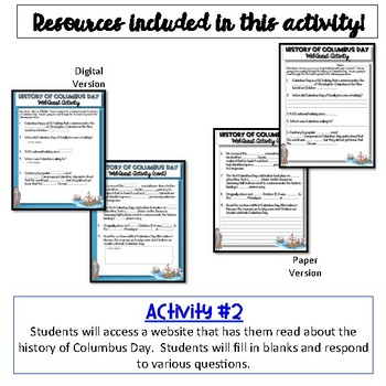 History of Columbus Day {Digital AND Paper}