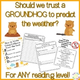 Should We Let a Groundhog Predict the Weather? Using Text