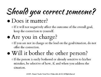 Should You Correct Someone? (Social Skills)