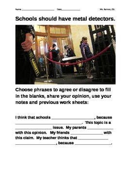 IR Should schools have metal detectors?  Quiz
