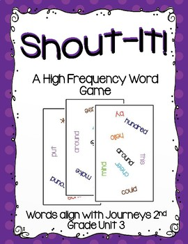 Shout-It!  A High Frequency Word Game