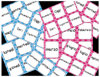 Shout! Italian Vocabulary Game (Days and Months)