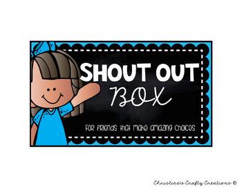 Shout Out Box Labels