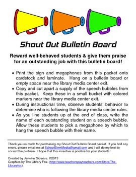 Shout Out Bulletin Board Teaching Resources Teachers Pay Teachers
