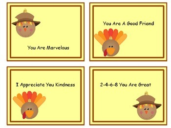 Shout Out Cards for Fall; Notes of Encouragement!