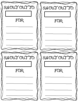 Shout Out Printable