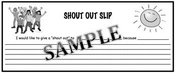 Shout Out Slip