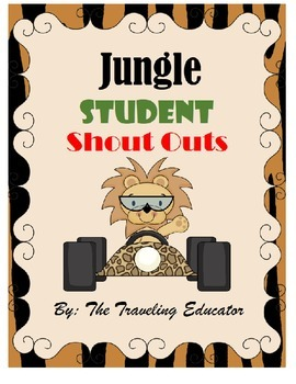 Jungle Shout Out Slips