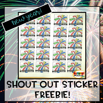 Shout Out Stickers New Year Freebie