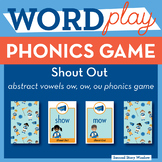 Shout Out abstract vowels ow, ow, ou Phonics Game - Words