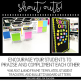 Shout Outs Using Sticky Notes {Frame Templates, Trackers,